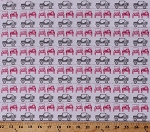 Cotton Jeeps® Jeep® Land-rover Roadster Buggy Vehicles Automobile Transportation Camping Travel Roadtrip Pink White Gray J is for Jeep® Cotton Fabric Print by the Yard (C6462-White)