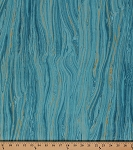 Cotton Stone Layers Rock Marble Landscape Sandscapes Swirls Row by Row Blue Orange Lagoon Cotton Fabric Print by the Yard (r20474m-62)
