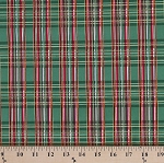 Cotton Christmas Plaid Festive Holiday Red Green Gold Cotton Fabric Print by the Yard (HOLIDAY-CM3286)