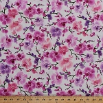 Cotton Orchids Orchid Floral Flowers Botanical Tropical Pink Cotton Fabric Print by the Yard (orchid-c3209)
