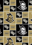 Cotton University of Central Florida Knights College Cotton Fabric Print (ucf020)