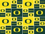 Cotton University of Oregon Ducks Cotton Fabric Print - sor020s