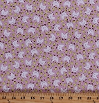 Cotton Chickens Hens Chicks Birds Farm Farming Yellow White Pink Cutie Pie Cotton Fabric Print By the Yard (32596-2)