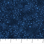 Cotton Artisan Spirit Dreamscape Dots Circles Navy Blue Black Cotton Fabric Print by the Yard (21299-49-MIDNIGHT)