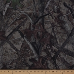 HTC True Timber Camouflage Twill Woodland Forest Tree Trees Leaves Camo Fabric By the Yard (6063)