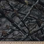 No-see-um Mosquito Mesh Camouflage Forest Woodland Leaves Trees Camo Poly/Nylon Fabric By the Yard (camo-mesh)