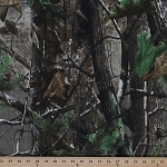 Real Tree Camouflage Twill Forest Leaves Woodland Camo Fabric Print By the Yard (realtree-ltbrown)