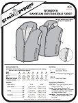 Women's Santiam Reversible Vest #101 Sewing Pattern (Pattern Only)