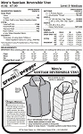 Men's Santiam Reversible Vest #102 Sewing Pattern (Pattern Only)