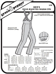 Men's High-waisted Warm-ups Overalls Snow Pants Coverall #105 Sewing Pattern (Pattern Only)