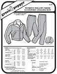 Women's Willow Creek Cross Country Jogging Skiing Suit #115 Sewing Pattern (Pattern Only)
