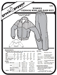 Women's Chinook Wind and Rain Suit Jacket Coat Pants #131 Sewing Pattern (Pattern Only)