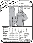 Women's Ranier Wind and Rain Suit Pants Coat Jacket #133 Sewing Pattern (Pattern Only)