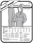 Men's Rainer Wind & Rain Suit Coat Jacket Pants #134 Sewing Pattern (Pattern Only)