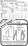 Men's Bicycle Racing Jersey Shirt #402 Sewing Pattern (Pattern Only)