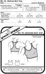 Mt. St. Helen's Hot Top Crop-top Sports Bra #407 Sewing Pattern (Pattern Only)