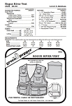 Adults' Rogue River Fishing Fisherman Vest #502 Sewing Pattern (Pattern Only)
