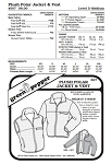 Adult's Plush Polar Jacket & Vest Coat Outerwear #507 Sewing Pattern (Pattern Only)