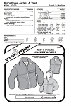 Kids Polar Jacket & Vest Coat Outerwear #509 Sewing Pattern (Pattern Only)