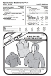 Kids Polar Pullover & Vest Jacket Coat Outerwear #510 Sewing Pattern (Pattern Only)