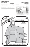 Adult's Rain Poncho #511 Sewing Pattern (Pattern Only)