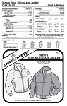 Men's Blue Mountain Jacket Coat Outerwear #514 Sewing Pattern (Pattern Only)