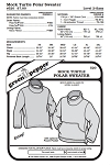 Adults Mock Turtle Polar Sweater #520 Sewing Pattern (Pattern Only)
