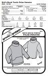 Kids Mock Turtle Polar Sweater #521 Sewing Pattern (Pattern Only)