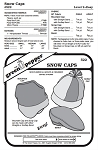 Snow Caps Hats Headgear Cold Weather #522 Sewing Pattern (Pattern Only)