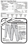 Adult's Fish Lake Cargo Rain Pants Trousers #523 Sewing Pattern (Pattern Only)