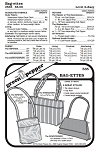 Bag-ettes Bags Purse Totes #535 Sewing Pattern (Pattern Only)
