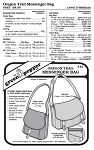 Oregon Trail Messenger Bag Pack Purse Shoulder Bags #545 Sewing Pattern (Pattern Only)