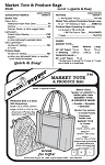 Market Tote & Produce Bag Grocery Shopping Bag Purse #546 Sewing Pattern (Pattern Only)