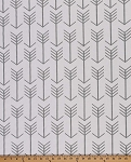 Gray Arrows on White Home Decorator Weight Fabric Print by the Yard D795.01