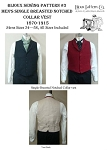 Men's Single Breasted Notched Collar Vest 1870-1915 Sewing Pattern #3 (Pattern Only)