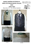 Men's Victorian Shawl Collar Vest 1850-1865 Sewing Pattern #4 (Pattern Only)