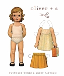Sewing Pattern - Sizes 0 months - 24M Swingset Tunic Blouse Top Shirt & Skirt Kids Children's Clothing Pattern by Oliver + S  (OS004SS1)