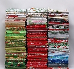 10 Fat Quarters - Christmas Holiday Festive Winter Assorted Quality Quilters Cotton Fabrics M227.04