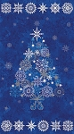 Starry Night Tree Panel Fabric Kit - Blue - Sold by the Kit