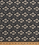 Cotton African Print Diamonds Zigzags Chevron Stripes Geometric Shapes Drums of Afrika Africa Tribal Cotton Fabric Print by the Yard (3494-B)