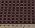 Cotton Jo Morton Emilie Rose Red Box Grid Squares on Brown Civil War Reproduction Cotton Fabric Print by the Yard (7738)