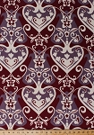 Velveteen Anna Marie Horner Innocent Crush Queen of Hearts Floral Flowers Botanical Leaves Fabric By the Yard (VVAH04-Fuchsia)