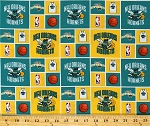 Cotton New Orleans Hornets NBA Basketball Sports Team Cotton Fabric Print By the Yard (hornets020)