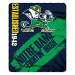 University of Notre Dame College Team 50x60 Fleece Fabric Finished Throw