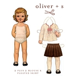 Sewing Pattern - Sizes 6M-3T Girls 2 + 2 Blouse Shirt & Pleated Skirt Kids Children Pattern by Oliver + S (Oliver+S-OS006TT1)