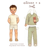 Sewing Pattern - Sizes 6M-3T Children Kids Bedtime Story Pajama Pants Shirt PJ's Nighties Night Clothes Pattern by Oliver + S  (OS008BT1)