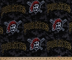 Fleece Pittsburgh Pirates MLB Baseball Sports Team Fleece Fabric Print By the Yard (s6689bf)