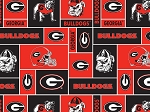 University of Georgia™ Bulldogs™ College Fleece Fabric Print