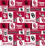 University of Oklahoma™ Sooners™ College Fleece Fabric Print