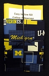 Easy to Sew Kit Cotton Pillowcase - College University of Michigan Wolverines